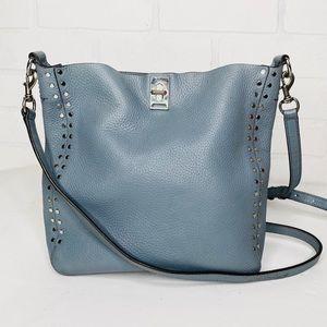 Rebecca Minkoff Darren Blue Leather Crossbody Bag